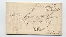 1825 Norfolk VA stampless to Maine customs office [5246.580]