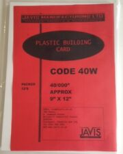 """1 x Plastic Building Card Model Scratch Build Sheet 1mm Thick = 0.040"""" White 2nd"""