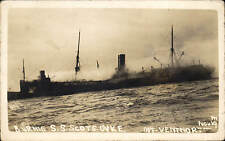 Ventnor, Isle of Wight. S.S.Scots Dyke Burning by G.Digweed, Ventnor. Shipwreck.