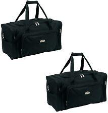 2 x Sporttasche 58x28x33cm Reisetasche schwarz Umhängetasche 950Gr Fitnesstasche