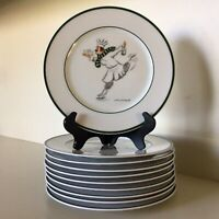 "Guy Buffet ~ ""Skating Chefs"" ~ Set Of Ten 8 3/8"" Salad-Dessert Plates ~ Germany"