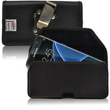 Turtleback Galaxy S7 Edge Leather Black Holster Phone Case Metal Belt Clip