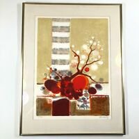 Abstract Tree Watercolor Print by Frederic Menguy Signed Numbered 154/260