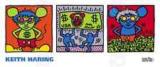 Andy Mouse, 1986 by Keith Haring Art Print Dollar Bill Money Pop Poster 14x33