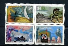 Canada MNH #1107a Including 1107I Variety Pink Flaw Exploration 1986 HistoryJ053