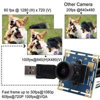 "HD 1080P PCB Board Camera 170 Degree Fisheye Lens 1/2.7"" CMOS OV2710 Module USB"