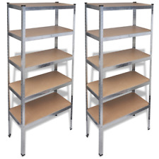 vidaXL 270564 Storage Shelf Silver 2 pcs