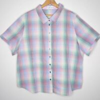 Established Womens Button Up Check Shirt Size 20 Multicoloured