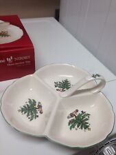 """Nikko Christmastime Three Sectioned Serving Tray 8.5""""  NIBn"""