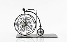 """1870 High Wheeler Penny Farthing Bicycle Bookends 12"""" Decor New in Box"""
