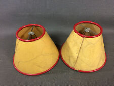Set of 2 Antique Lampshade European Peacock in Cardboard of Lamp Fix on Bulb