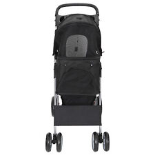 Dog Stroller Pet Travel Carriage 4 Wheeler with Detachable Carrier Cart Durable