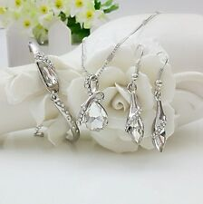 Bridesmaid Wedding Jewelry Set Crystal Necklace, Earrings & Bracelet Bridal Sets