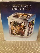 "Godinger Silver plate Cube photo box 5 4"" x 4"" frames Trinket Box"