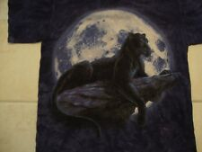 The Mountain Apparel Panther Purple Cotton T Shirt Size M