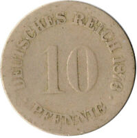 COIN / GERMAN EMPIRE / 10 PFENNIG, 1876  #WT3124