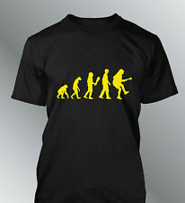 Tee shirt homme evolution Rock AC/DC humour human rock music Angus young ACDC