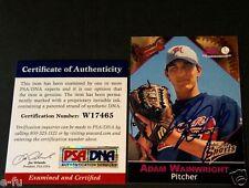 2001 Macon Braves ADAM WAINWRIGHT Blue Autograph PSA/DNA Genuine Certified Auto