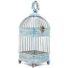 Beautiful Antique Blue Square Iron Bird Cage Shabby-chic Home Decor