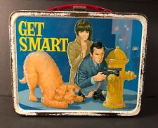 """1966 """"GET SMART"""" King Seeley Metal Lunch Box WITH THERMOS! Look at photos!"""