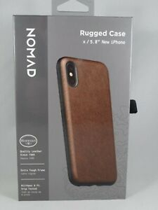 NEW other Nomad Rustic Brown Rugged Leather Case for Apple iPhone XS or  5.8""