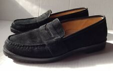 COLE HAAN BLACK SUEDE LEATHER PENNY LOAFERS, MENS SIZE 8.5 M 8.5M, MEDIUM, NEW