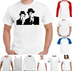 Laurel and Hardy T-Shirt Mens Dick & Doof Funny Comedy Retro Unisex Top