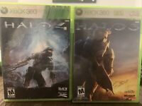 Halo 3 And Halo 4 Xbox 360 - Lot Of 2 Games Complete Tested!