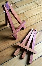 Mini Wooden Easel Dark Brown Set Small Arts & Tiny Crafts Painting (5