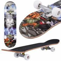 "31"" X 8"" Complete Skateboard, 9 Layer Maple Wood Skateboard Deck Youths Beginner"