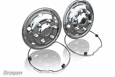 """17.5"""" Universal Front Bus Coach Mercedes DAF Iveco Truck Steel Wheel Trims"""