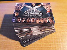 X MEN 3 THE LAST STAND COMPLETE BASIC SET OF CARDS PLUS FREE P1