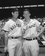 BASEBALL LEGENDS AL  KALINE AND TED WILLIAMS RED SOX TIGERS 8X10 PHOTO
