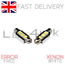 Audi A3 8P S3 8PA UP TO 2008 3 SMD LED Canbus Number Plate Light Bulbs - White