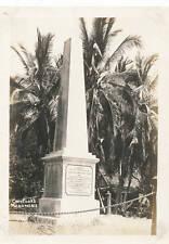 Captain Cooks Monument closeup 1920s Hawaii 5x7 Photo