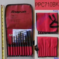 New Snap On Center Pin Starter Flat - Punch and Chisel 11 Pcs Set - PPC710BK