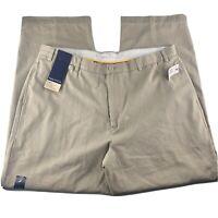 NWT NAUTICA Clipper Men's Khaki Relaxed Fit Pants Size 42x32