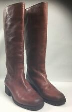 Womens 7 M LUCKY BRAND HIBISCUS Wide Calf Tall Riding Boots Saddle Brown
