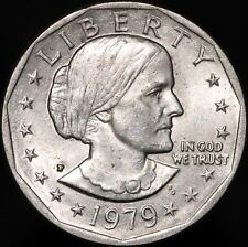 More details for 1979 p u.s.a. susan b. anthony one dollar | cupro-nickel clad copper | km coins