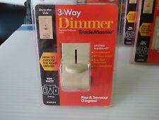 Pass & seymour 600 watt 3 way decorator dimmer switch (ivory)....(NOS)