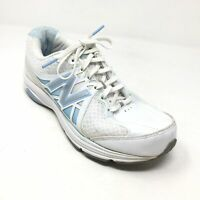 Women's New Balance 847v2 Walking Shoes Sneakers Size 6D Wide White Blue E13