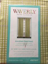 "Waverly Grantham Plaid Curtain Drape Grommet Panel 52 x 84"" L ~ Celery Green"