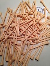 "100 JL Golf natural wooden tees 69 / 70mm long (2 3/4"") *NEW* Xmas gift  fathers"