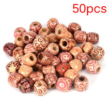 50PCS Dreadlock Hair Beads Dread Beads Hair Braid Pins Rings DIY Cuff Jewelry VU