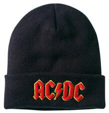 AC/DC 'Logo' (Black) Beanie Hat - Amp   - NEW & OFFICIAL!