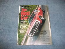 "Hot Rod Magazine 1967 Chevy Camaro Project Car History Article ""The Red Car"""