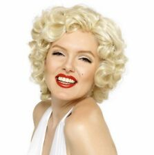 Adult Marilyn Monroe Blonde Bombshell Fancy Dress Costume Fashion Wig Accessory