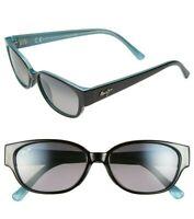 NEW Maui Jim Sunglasses Anini Beach  Polarized Womens Black and Blue Frame