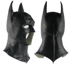Batman Full Mask With Cowl Adult Cosplay The Dark Knight Rises Batman Mask Latex