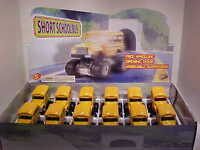 12 Pack of School Bus Long Nose Mini Foot 4x4 Diecast 1:40 Kinsfun 4 inch Yellow
